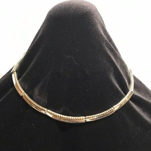 Liz Claiborne silver and gold tone omega necklace